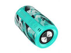 Колонка ZEALOT S32 Blue Camouflage (Зеалот) FM радио Повер Банк Hands Free Calling Bluetooth 5.0
