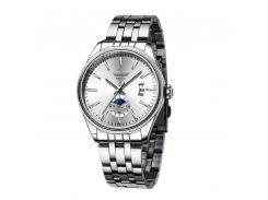 Часы мужские SWIDU SWI-028 Silver + White из нержавеющей стали модные для мужчин с кварцевым механизмом