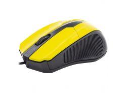 ™Мышь Apedra M3 Yellow проводная компьютерная для ноутбука и Пк