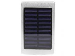 ☛Power bank Solar PB-6 Silver 20000mAh повер банк портативное зарядное устройство солнечная батарея
