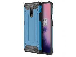 ☜Противоударный чехол Shield для смартфона OnePlus 7 Blue защитная накладка бампер от сколов падений