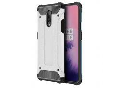 ➤Противоударный чехол Shield для смартфона OnePlus 7 Silver защитная накладка бампер от сколов падений