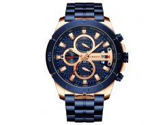 Часы мужские CURREN 8337 Blue наручный для мужчин стильный аксессуар кварцевые влагозащищенные