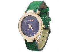 ✓Женские наручные часы LSVTR Fashion Green кварцевый механизм мягкий ремешок