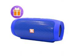 ☜Беспроводная колонка BL JBL Charge 4 Blue мощная акустика чистый звук USB порт слот карта памяти музыкальная