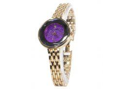 ✪Кварцевые часы Pollock Jewel Purple наручные стальные круглой формы для девушек и женщин