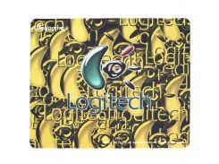 ✕Коврик для мыши Logitech F2 200*240*1.5mm Yellow игровая поверхность для компьютерной мышки