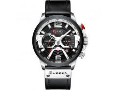 Наручные часы мужские CURREN 8329 Black кварцевые влагозащищенные стильные с кожаным ремешком