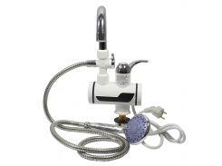 Кран-водонагреватель TEMMAX RX-001 Кран + душ электрический нагрев воды мощность 3000 Вт с цифровым дисплеем