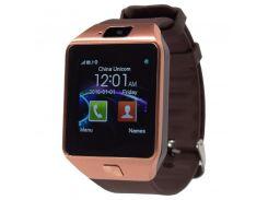 ✦Смарт-часы UWatch DZ09 Gold универсальные Bluetooth с поддержкой SIM карты подключение к android смартфонам