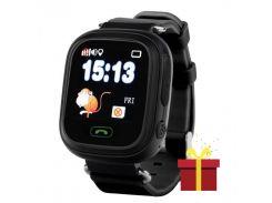 """➤смарт-часы uwatch q90 black для детей с gps\a-gps трекером sos wi-fi сенсорным цветным экраном 1.22"""" ios"""