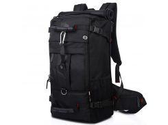 Сумка дорожная для путешествий KAKA 2070 D 50L Black рюкзак-трансформер многофункциональный