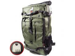 Сумка дорожная для путешествий KAKA 2070 D 50L Green рюкзак-трансформер многофункциональный