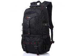 Большой рюкзак для путешествий KAKA 2020 D Black туризма отдыха водостойкий с большим отделением карманами