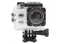 "Экшн-камера Lesko F60R White LCD 2"" Waterproof 30М 4K Ultra HD Wi Fi HDMI 900mAh пульт бокс Action camera"