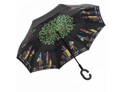 Зонт Up-Brella Picasso обратного сложения отличный дизайн эргономичная ручка двойной купол