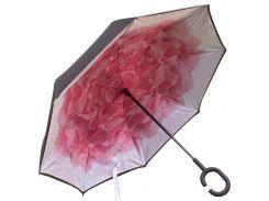 Зонт Up-Brella Роза Розовая тренд сезона двойной купол водоотталкивающая пропитка эргономичная ручка