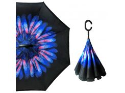 Смарт зонт наоборот Up-Brella Роса на цветке обратного сложения антизонт смарт-зонт