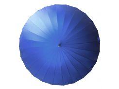 Зонт женский Lesko T-1001 Blue 24 спицы механический ветрозащитный от дождя