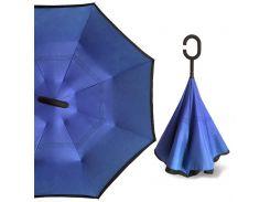 Умный зонт Up-Brella Тёмно-Синий антизонт зонт-наоборот трость механический с двойным куполом