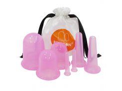 Вакуумные банки Bellbon QH-01 Pink для массажа лица комплект 7 банок массажные банки подтяжка кожи