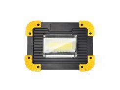 Кемпинговый прожектор Lesko LL-811 Black + Yellow автономный переносной уличный СОВ мощность 20Вт светодиодный