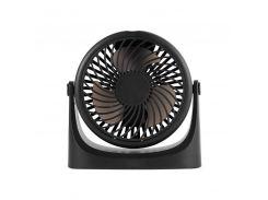 Мини вентилятор настольный Lesko JD-Q1 Black USB портативный мощный 3 скорости вращения аккумуляторный