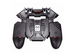 Игровой геймпад триггер Lesko AK77 с кулером охлаждения манипулятор для игр на смартфоне 4000 mAh беспроводной