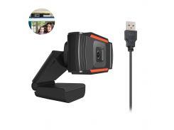 Универсальная веб камера HXSJ А-870 универсальная USB для скайпа видеосвязи звонков фото точная с микрофоном