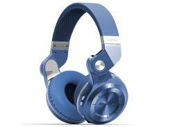 Беспроводная гарнитура Bluedio T2 Plus Blue Bluetooth 5.0 стерео поддержка карт microSD наушники с микрофоном