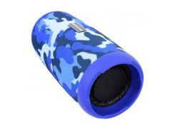 Портативная колонка Booms Bass L12 Blue Camouflage Блютуз 5.0 мощность 10 Вт Батарея 1200 мАч