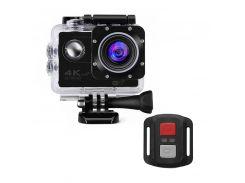 "Экшн-камера Lesko F60R Black LCD 2"" Waterproof 30М 4K Ultra HD Wi Fi HDMI 900mAh пульт с боксом Action camera"