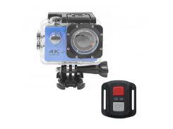 "Экшн-камера Lesko F60R Blue LCD 2"" Waterproof 30М 4K Ultra HD Wi Fi HDMI 900mAh пульт с боксом Action camera"