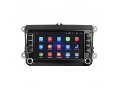 "Штатная автомобильная магнитола 7"" Lesko Volkswagen universal 7002A 1/16 45 Вт Android GPS Can модуль"