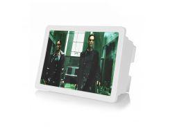 Увеличитель экрана F2 White ПВХ ABS для мобильных камера с линзой 3-х увеличение для просмотра фильмов