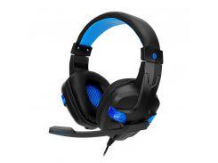 Проводная гарнитура SOYTO SY860MV Black + Blue игровые наушники с микрофоном