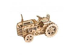 Деревянный 3D конструктор Robotime LK401 Трактор