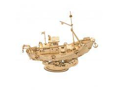 Деревянный 3D конструктор Robotime TG308 Рыбацкая лодка