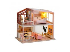 3D Румбокс кукольный дом DIY Cute Room QL-003-B Розовый Лофт детский конструктор
