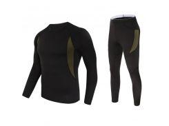 Термобелье для мужчин Lesko A152 XXXL Black комплект флисовое мужское белье ветрозащитное термозащита