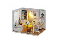 3D Румбокс кукольный дом DIY Cute Room QT-007-B Sunshine Study Room детский конструктор