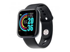 """Смарт-часы 1,3"""" Smart Watch Y68 Black шагомер подсчет калорий цветной экран"""