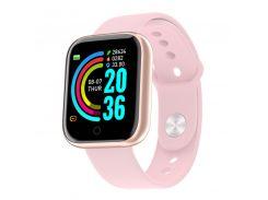 """Смарт-часы 1,3"""" Smart Watch Y68 Rose Gold шагомер подсчет калорий цветной экран"""