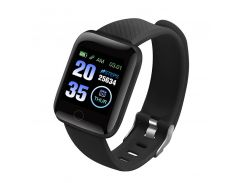 "Смарт-часы Smart Watch 116 Plus Black дисплей 1.3"" Bluetooth 4.0 фитнес браслет"