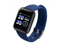 "Смарт-часы Smart Watch 116 Plus Blue дисплей 1.3"" Bluetooth 4.0 фитнес браслет"