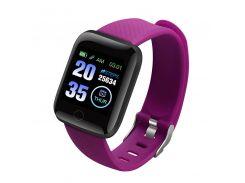 """Смарт-часы Smart Watch 116 Plus Violet дисплей 1.3"""" Bluetooth 4.0 фитнес браслет"""