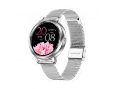 Смарт-часы Lemfo MK20 Silver подсчет шагов измерение пульса Android IOS