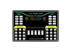 Аудиоинтерфейс Lesko X9 внешняя звуковая карта со встроенными пресетами функции микшерного пульта
