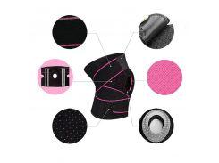 Наколенник бандаж для коленного сустава AOLIKES HX-7908 Black + Pink с пателярным кольцом