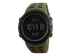 Часы мужские SKMEI 1251 Green электронные влагозащищенные нержавеющая сталь круглый дисплей спортивные